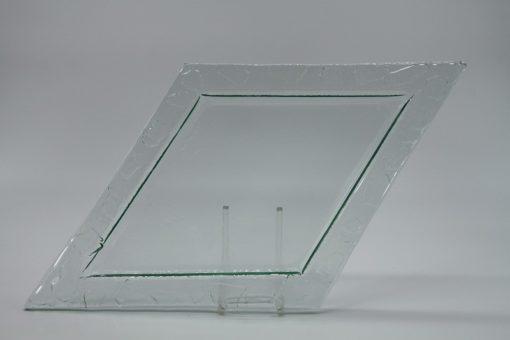 Glasschale Raute transparent 4