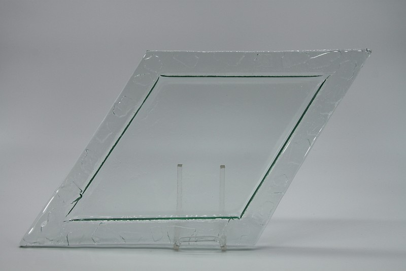 Glasschale Raute transparent 4