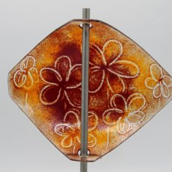 Gartenstele Glasstele Segel Blume orange dunkelrot 4