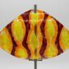 Gartenstele Glasstele Segel Ornament dunkelrot orange 1