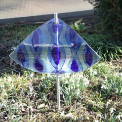 Gartenstele Glasstele Segel Ornament hellblau blau 5