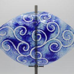 Gartenstele Glasstele Segel Ranke hellblau dunkelblau 2