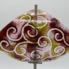 Gartenstele Glasstele Segel Ranke rot rose 1