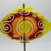Gartenstele Glasstele Segel Sonne gelb rot 1