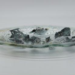 Glasschale Oval Metall gold-silber 1