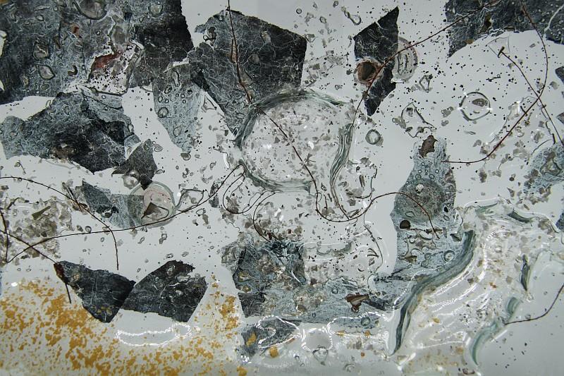Glasschale Oval Metall gold-silber 4