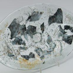Glasschale Oval Metall gold-silber 5