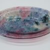 Glasschale Oval Metall rosa-blau 2