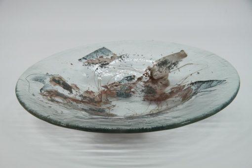 Glasschale Rund Metall tief 1