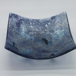 Glasschale eckig Metall Ocean blau 2