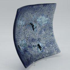 Glasschale eckig Metall Ocean blau 5