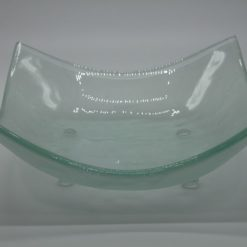 Glasschale eckig Lufteinschlüsse Matt 2
