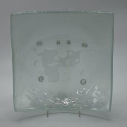 Glasschale eckig Lufteinschlüsse Matt 4