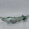 Glasschale gelbes Gras Metall 1