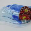 Glasschale Niere Blume 1