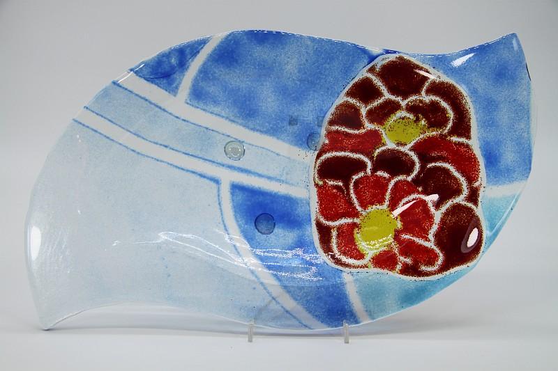 Glasschale Niere Blume 2