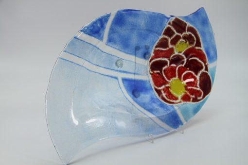 Glasschale Niere Blume 4