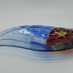 Glasschale Niere Blume 5