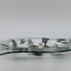 Glasschale Niere Metall 1