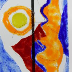Gartenstele Glasstele rechteck Abstrackt 1