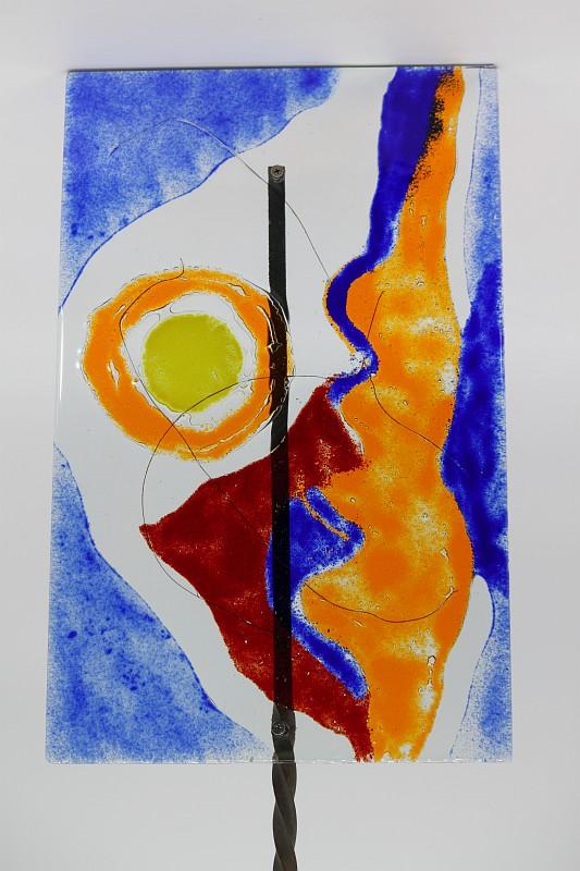 Gartenstele Glasstele rechteck Abstrackt 2