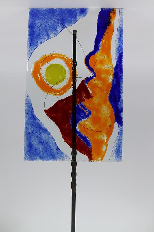 Gartenstele Glasstele rechteck Abstrackt 3