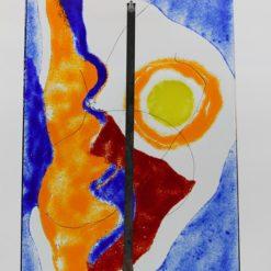 Gartenstele Glasstele rechteck Abstrackt 4