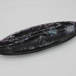 Glasschale Oval Metall schwarz 3
