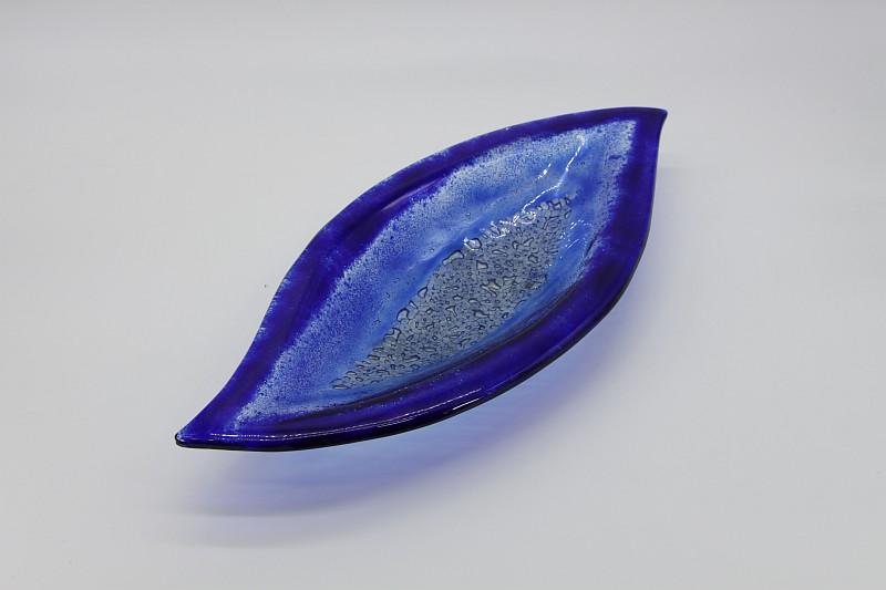 Glasschale Pistazie blau 2