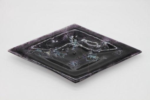 Glasschale Raute Metall schwarz 1