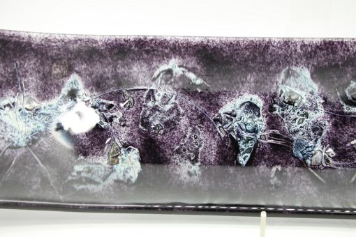 Glasschale Schiff Metall schwarz Matt 3