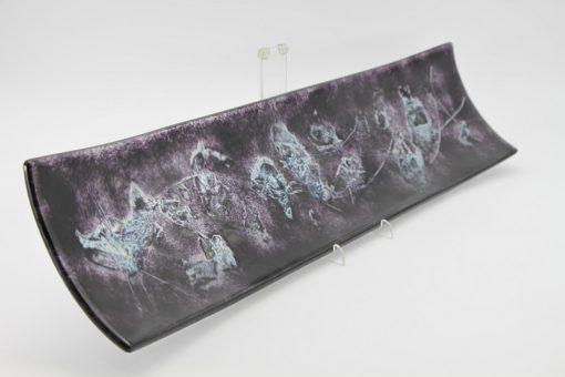 Glasschale Schiff Metall schwarz Matt 5