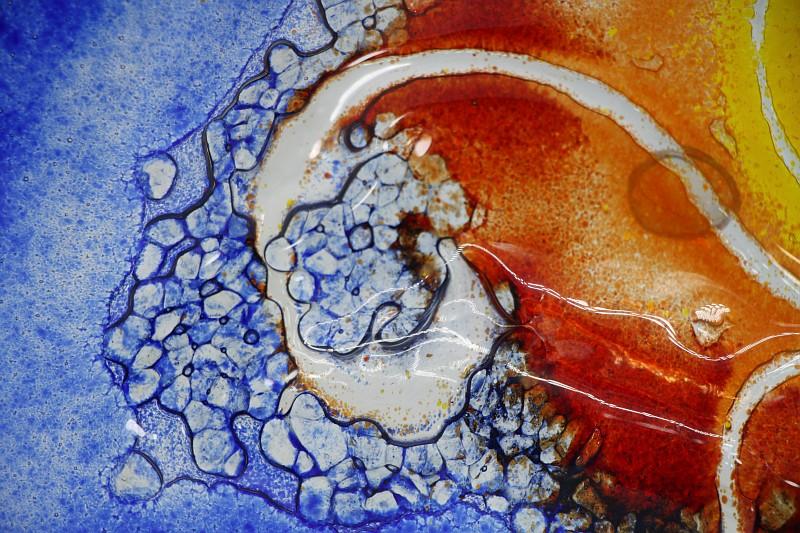 Glasschale Niere Sonne 4